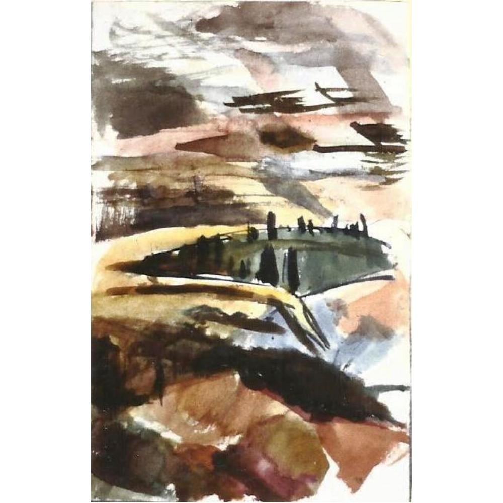 Η κοιλάδα του Όσιου Λουκά, ακουαρέλα, 1990