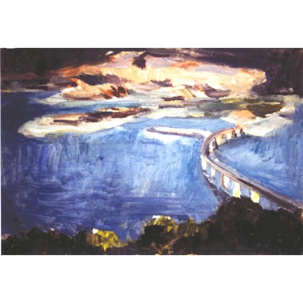 Η γέφυρα του Αλιάκμονα, λάδι σε χαρτί, 1990