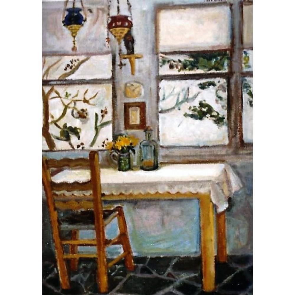 Εσωτερικό σπιτιού στην Ύδρα, 1992